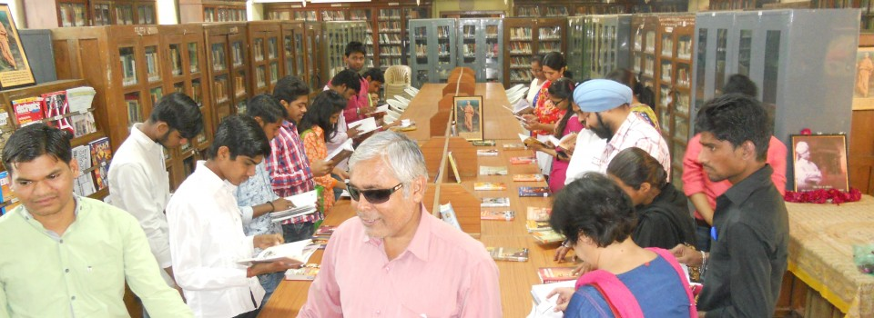 Book Display on Swami vivekanand on 12th january 2016